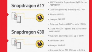 Qualcomm Snapdragon 617 and 430, new mid-range chips 1
